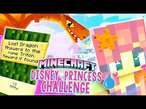 I Lost Triton! - Disney princess Challenge - Minecraft -  Ep 14