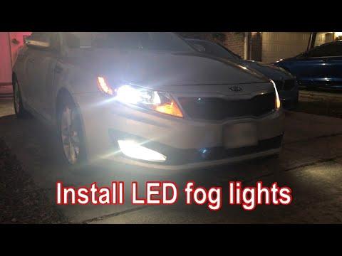 DIY Install LED Fog lights on 2011 Kia Optima