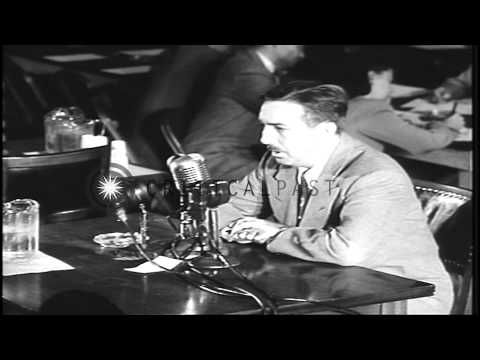 Walt Disney Studios owner Walt Disney testifies against communism at hearings of ...HD Stock Footage