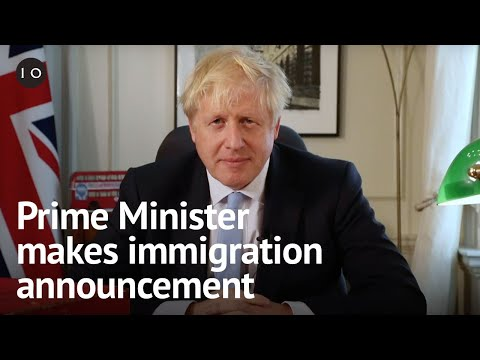 Prime Minister Boris Johnson makes immigration announcement from Downing Street