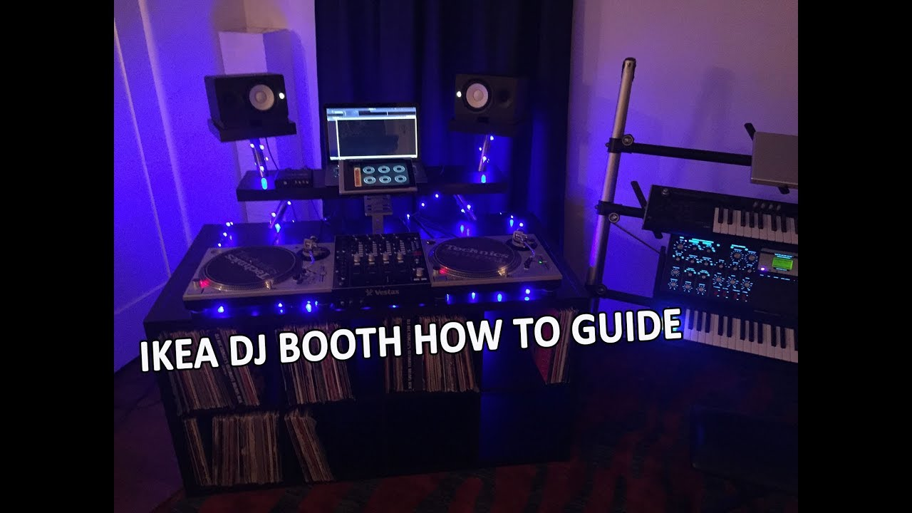 How to build a dj booth with ikea parts youtube for Build your room