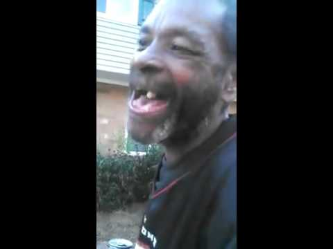 Black guy with no teeth
