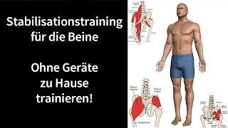 Krafttraining für die Beine - Adduktoren, Abduktoren und Hüfte   Deuserband Hometraining