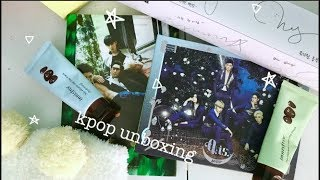 [kpop haul and unboxing] wanna one x innisfree goods + nu'est albums!