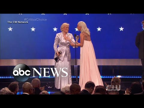 Lady Gaga, Glenn Close tie for top prize at Critics Choice Awards Mp3