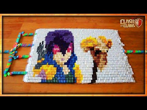 ALL TROOPS OF CLASH OF CLANS IN 50000 DOMINOES | OMG! IT'S AWESOME ! | COC INSANE DESIGNS !
