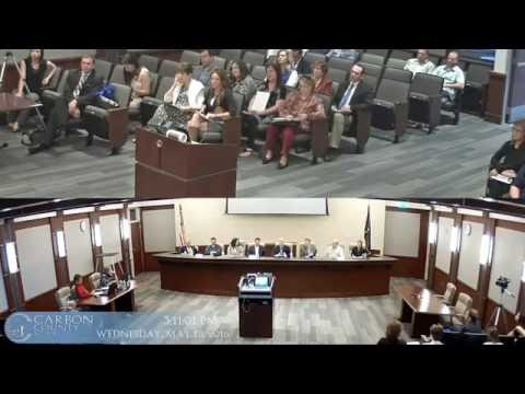 Carbon County Commission Inter-Generational Poverty 5-18-2016