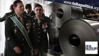 General Mourão reage após União Europeia impor restrições à importação de aço do Brasil
