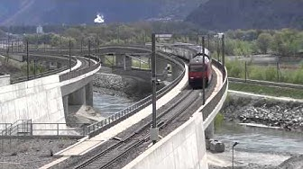 Tunnel de base du Lötschberg à Raron dans le Valais, Suisse