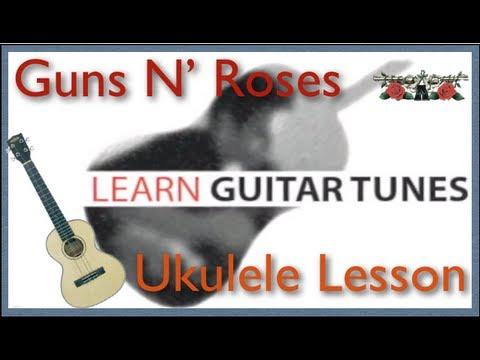 Guns N Roses Sweet Child O Mine Ukulele Lesson Easy Ukulele