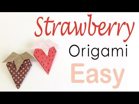 Easy☺︎ Strawberry Origami Paper Tutorial - Origami Kawaii〔#102〕