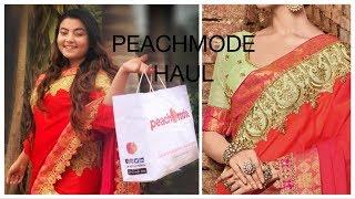 Peachmode Saree Haul   Better than Myntra Amazon Flipkart ?   Deblina Rababi