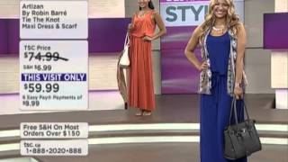 Artizan by Robin Barre Tie The Knot Maxi Dress & Fashion Scarf Thumbnail