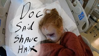 Girl hospitalized, mom almost breaks (camera had to stop)