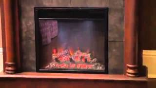 Chimney Free Wexford Convertible Electric Fireplace Mantel In Brown Cherry- 18dm9038-977