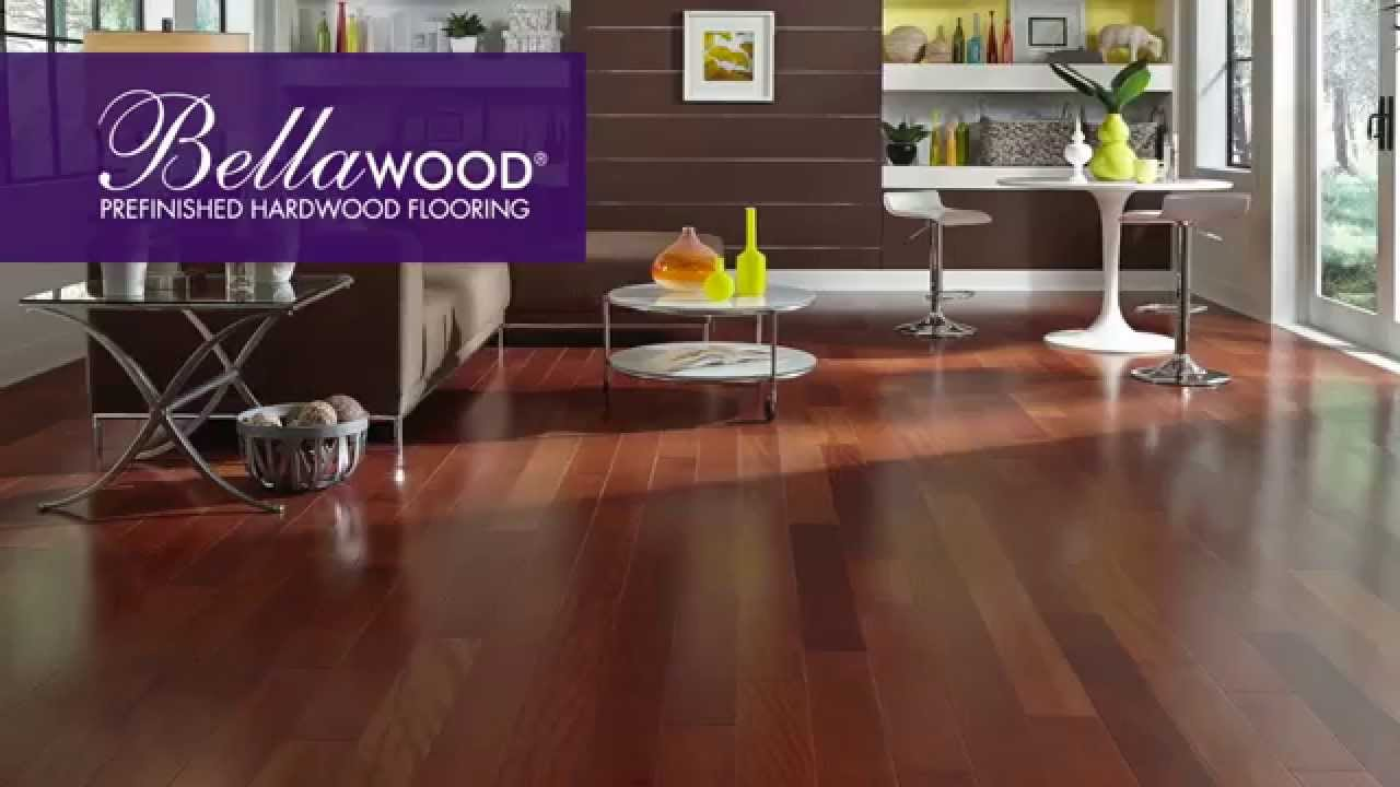 bellawood prefinished hardwood flooring youtube