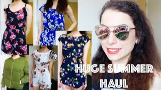 HUGE TRY ON SUMMER HAUL   Topshop, River Island, Urban Outfitters, New Look, Primark, ASOS