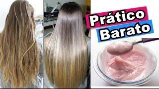 receita progressiva caseira sem química cabelo liso reduz volume e frizz