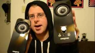 Apple Creative Inspire T12 BaseFlex Speakers showing off vlog :D (October 1, 2012)