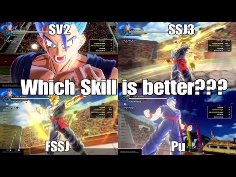 Dragon ball Xenoverse 2 Skill Test! SSJ3 Vs. FSSJ Vs. SV2 Vs. Potential Unleashed