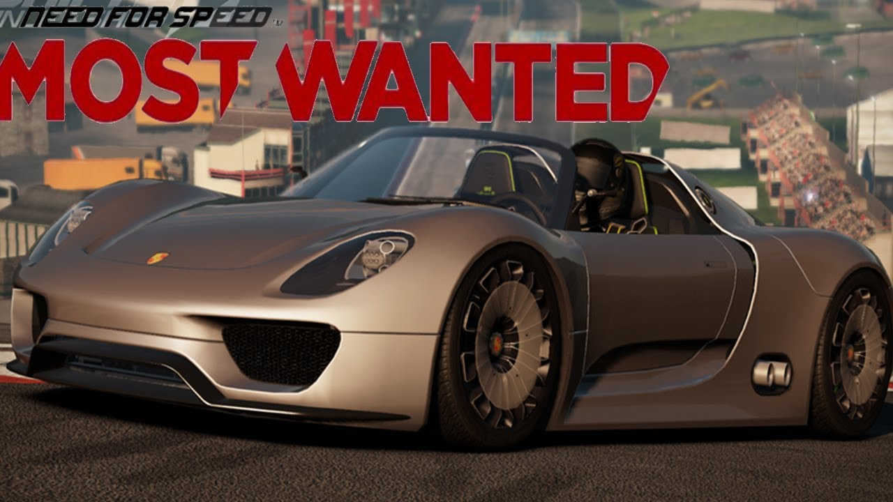 need for speed most wanted porsche 918 spyder concept race and takedown. Black Bedroom Furniture Sets. Home Design Ideas