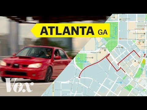 Baby Driver's opening car chase, mapped