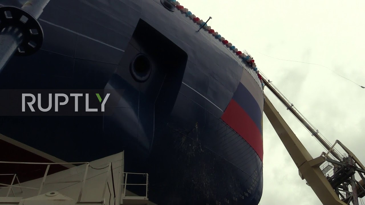 Russia: Nuclear-powered 'Ural' icebreaker launched in St  Petersburg