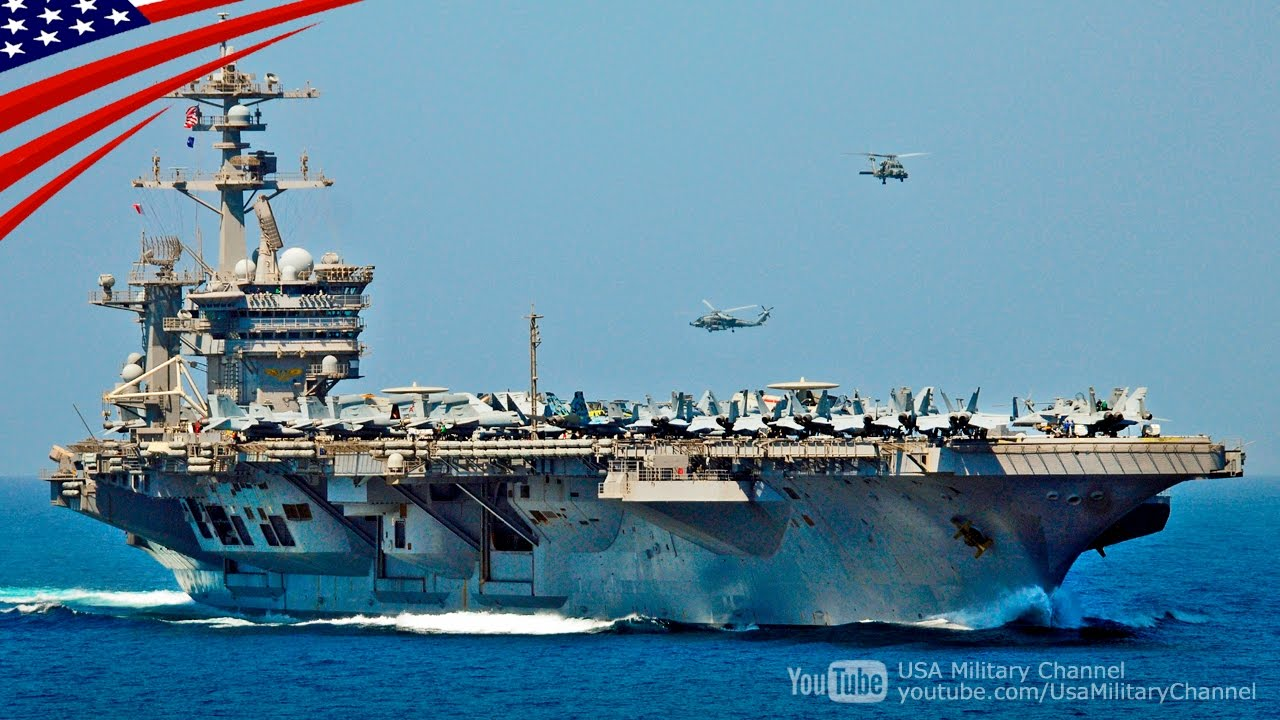 US Navy Carrier Strike Group Hostile Waters Strait Transit Exercise - アメリカ ...