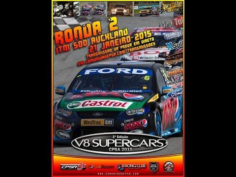 V8 SUPERCARS 2015[RF1]-CPSA -Onboard-Ronda 2 - ITM 500 AUCKLAND