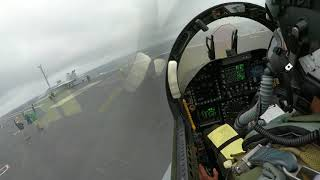 F 18 carrier landing in bad weather and low visibility   Military videos