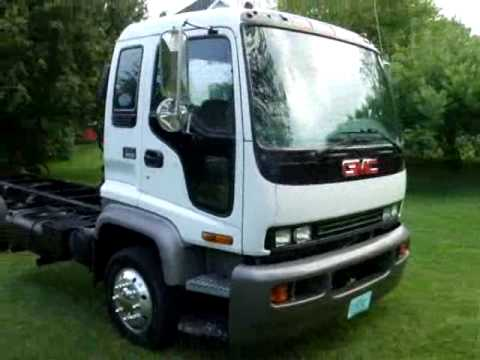 1997 gmc t6500 (isuzu ftr) cab and chassis no cdl - sold - youtube