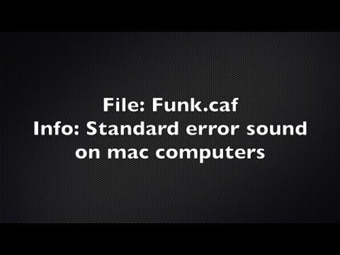 Mac error sound Funk