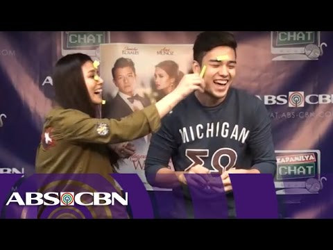 Maika and Marco in Kapamilya Chat's Post It Challenge