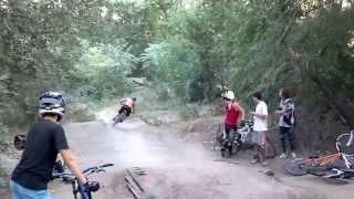 Горный велосипед байк трасса трамплин спорт экстрим Запорожье Август 2013