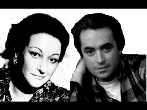 Montserrat Caballe & Jose Carreras.Teco io sto.  Un ballo in maschera.