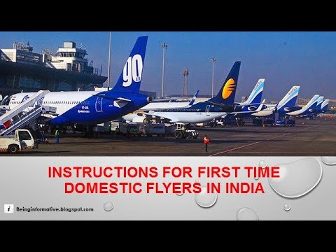 Instructions for first time domestic flyers in India (Tamil) (தமிழ்)