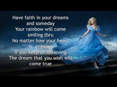 Lily James A dream is A wish your Heart make Lyrics ...