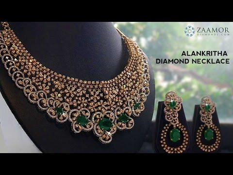 Zaamor Diamonds Alankritha Diamond Necklace