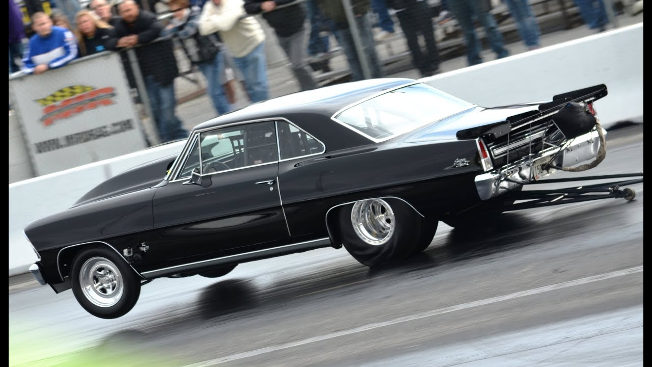 6 Second Chevy Drag Race - Ralph Hardesty 1967 Chevy II MIR World Cup  Finals 2012 6 89 @ 208 mph