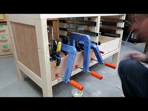 Using spacers to lay out drawer slides