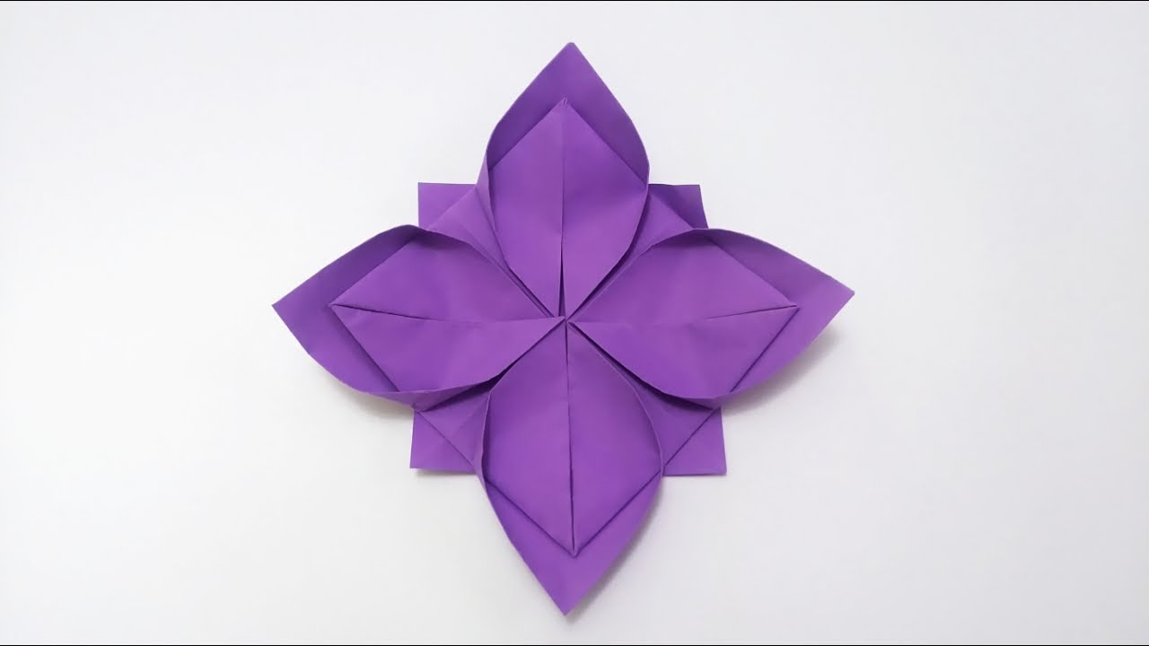 Origami Lotus Flower Tutorial (mit Bildern) | Origami blume | 720x1280