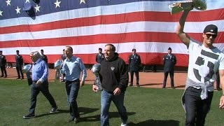 wsh bos tom brady tosses out ceremonial first pitch