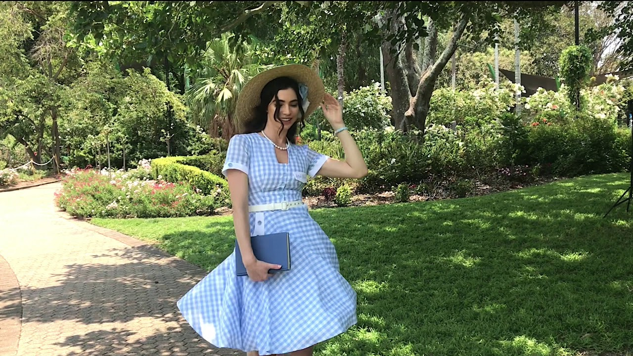 Behind The Scenes In The Meadow Button Dress Kitten D Amour Youtube
