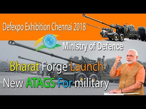 Kalyani Group Launch New ATAGS For military | Defexpo Exhibition Chennai 2018 |  Ministry of Defence