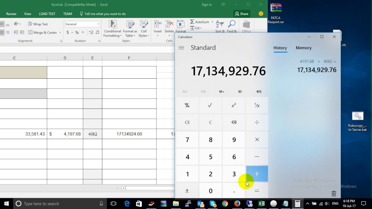 Excel calculate wrong value