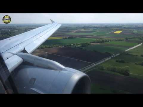 Lufthansa Airbus A319 Landing in Munich on a sunny and windy summer's day [AirClips]