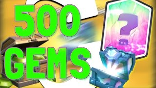 500 GEMS FOR THIS?!? // Clash Royale Legendary Chest Opening!