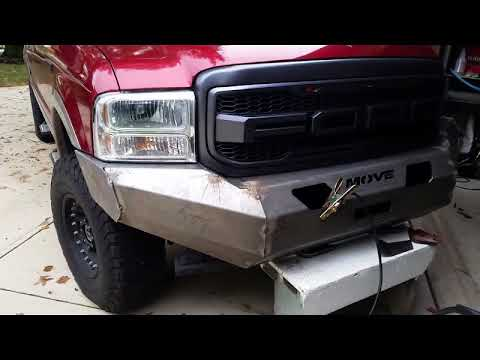 Move bumper install on a Ford Excursion