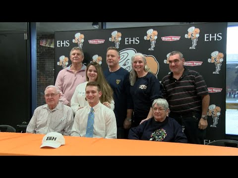 Elizabethton Cyclone Austin Outland signs with Emory & Henry