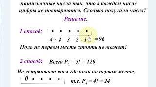 Урок 2. Комбинаторика. Выбор формулы.  Перестановки. Алгебра 11 класс.
